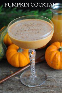This Pumpkin Harvest cocktail is the perfect fall drink! A tasty combo  of bourbon, pumpkin, amaretto, apple cider, cream and bitters! Make this  tasty drink asap! #cocktail #whiskey #bitters