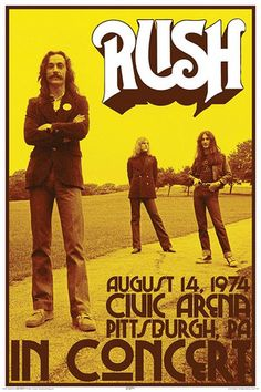 Classic Rock Concert Posters | Rush In Concert 1974 Prints - at AllPosters.com.au