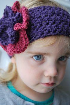 Fancy Flower Crochet Headband Pattern cakepins.com