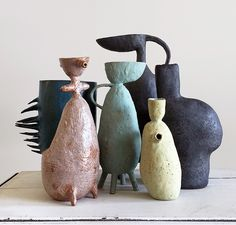 With a background in design, styling and fashion, LA based Maryam Riazi has found her passion in recent years working with clay. Her distinctive sculptural feminine forms are uniquely beautiful and sought after. Two recent exhibitions – including one here in Sydney –  sold out within days of opening.