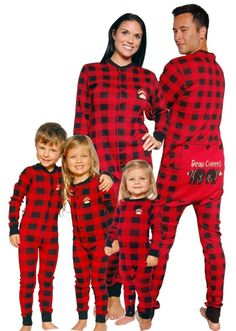 Bear Cheeks Lazy One Adult Red Black Plaid Flapjack Family Matching Pajamas  Matching Christmas Pjs 78c14046f