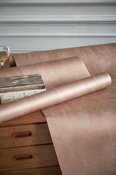 Designers Guild Parchment copper wallpaper