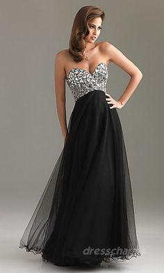 A-Line Chiffon Strapless Long Dress Charm87713