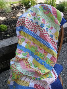 Throw Quilt Quilted Throw Primary Color Quilt Child's