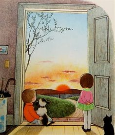 """""""Oh, What a Busy Day."""" Illustrated by Gyo Fujikawa. Grosset & Dunlap, 1976."""