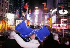 Kiss my husband on New Years in Times Square