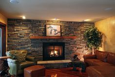 love that stone fireplace