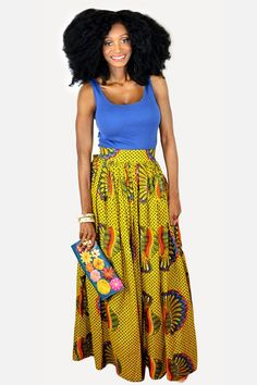 African clothing African skirt African maxi skirt by BoutiqueMix