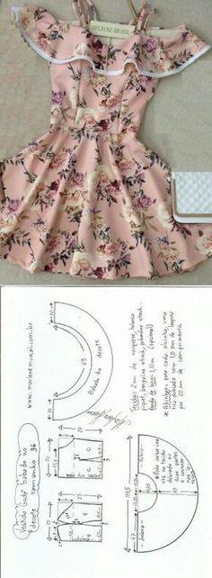 Dress pattern sewing design new Ideas Dress Sewing Patterns, Clothing Patterns, Pattern Sewing, Pattern Drafting, Skirt Patterns, Blouse Patterns, Diy Clothing, Sewing Clothes, Barbie Clothes
