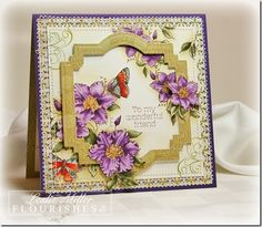 Beautiful card by Leslie Miller, using Flourishes Butterflies and Blossoms stamp set.