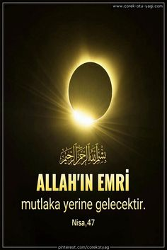 #AllahınEmirleri #KuranıKerim #KuranAyetleri #ResimliAyetler #islam #islamicquotes #corekotuyagi Islamic Quotes, Motto, Quran, Allah, Hat, Black, Chip Hat, Black People, God