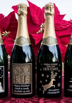 A perfectly personalized way to celebrate this holiday season: Customizable etched wine bottles from Miramonte Winery