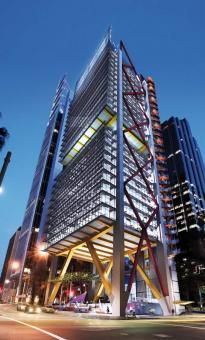 8 Chifley Square is a premium grade commercial office tower in the financial centre of Sydney's central business district. The design concept was generated by the desire to create a twenty first century workplace i. Futuristic Architecture, Amazing Architecture, Contemporary Architecture, Architecture Details, Classical Architecture, Interesting Buildings, Amazing Buildings, Modern Buildings, Building Facade