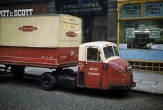 A Scammell Scarab truck in British Railways livery, London, British Railways was involved in numerous related businesses including road haulage Vintage Trucks, Old Trucks, Lifted Trucks, Antique Trucks, Semi Trucks, British Railways, Old Lorries, Classic Chevy Trucks, Classic Cars