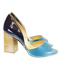Peep Toe Azul 7840 Tabita by Moselle   Moselle sapatos finos femininos! Moselle sua boutique online.