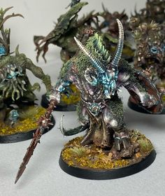 Everything is a Nurgle demon if you are brave enough! By Adam Chandler ( @lostinthewoods79 ) #miniatures_warzone #warhammer #nurgle #chaos #demon Warhammer Models, Warhammer Fantasy, Warhammer 40k, Adam Chandler, Wood Elf, Nerf Gun, Wargaming Terrain, Hobby Ideas, Chula
