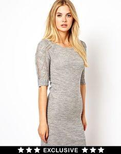 Vila Cable Sleeve Dress