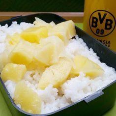 Keine lust mich darüber zu ärgern  dass heute Montag ist. Ich genieße viel lieber mein Milchreis mit Ananas zum #frühstück . ................................. No time to dwell ob thr fact that today is Monday.  I much rather am enjoying my ricepudding with pineapple for breakfast  by leanclean_killingmachine