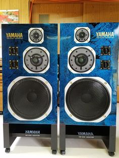 Yamaha Speakers, Hifi Speakers, Loudspeaker, Audio, Tech, My Favorite Things, Cool Stuff, Blue, Vintage