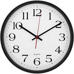 Large Wall Clock Silent Non-Ticking - Indoor/Outdoor - Modern Quartz Design - - #UtopiaHome