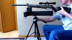 Homemade Rifle Rest / Stand $5 Part 2 Shooting Table, Shooting Rest, Shooting Targets, Predator Hunting, Deer Hunting, Hunting Stuff, Diy Tripod, Bench Rest, Rifle Targets