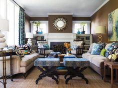 Living Rooms That Pop With Color | Home Remodeling - Ideas for Basements, Home Theaters & More | HGTV