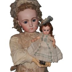 Rare and very cute size 1 Bebe by Emile Jumeau .... France circa 1888 in all perfect condition ,  has very fine quality of modeling with shy