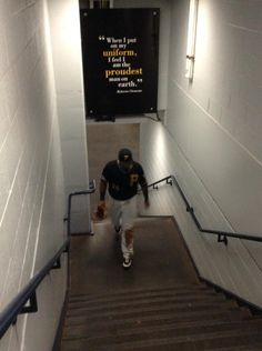 Pedro Alvarez Walking To The Locker Room After Todays Game Under Roberto Clemente Quote