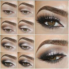 Grey eye makeup tutorial