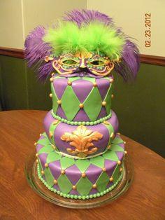Mardi-gras Cake