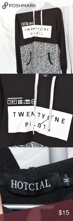 Twenty One Pilots Hoodie This hoodie is not an official merch item, but it is still great quality and looks great. Only worn a few times, great condition! Make an offer if you're interested! Don't forget about my bundle discount, and comment with any questions! Tops Sweatshirts & Hoodies