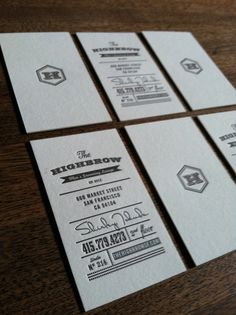 The Highbrow business cards