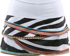 Lucky in Love ~ Zebra Bead Scallop Skort