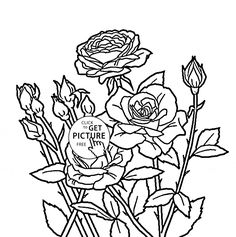 Realistic Sunflowers coloring page for kids flower coloring pages