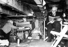 1940 - 1945. Jewish couple hiding in attic of house in Amsterdam. #amsterdam #worldwar2