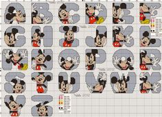 CHARMS IN CROSS POINT: MICKEY AND MINNIE MONOGRAM
