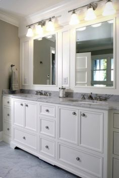 Another way to go for master vanity - lots of drawers for all of our stuff!