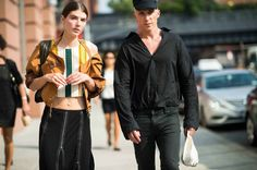 Street Style: Seen at New York Fashion Week Spring 2014 - New York Fashion Week Spring 2014 Street Style