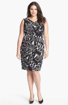 Adrianna Papell Print Tiered Sheath Dress (Plus Size) available at #Nordstrom