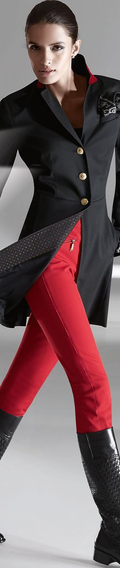 Madeleine Red Trousers