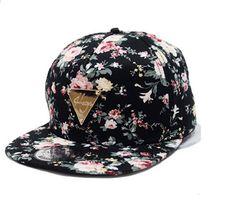 b80f9b76d06 Yonala Fashion Floral Snapback Hip-Hop Hat Flat Peaked Baseball Cap for  Four Seasons