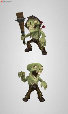 Low Poly Zombie Commoner