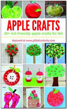 More than 20 apple crafts for kids to make this fall Preschool Apple Activities, Preschool Apple Theme, Autumn Activities For Kids, Preschool Crafts, Preschool Halloween, Kindergarten Classroom, Kid Crafts, Toddler Activities, Fall Arts And Crafts