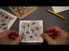 How to draw Zentangle Pattern Nymph by Melinda Barlow - YouTube