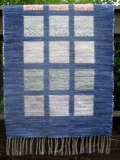 Rag rug Blue