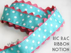 add ric rac to ribbon -- put on the bottom of shorts and pants when Hope outgrows them to make them last longer!