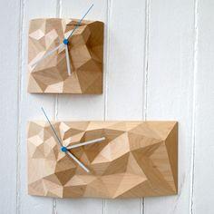 Wonderfully Wooden Block Clocks by Such + Such | MONOQI