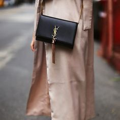 YSL Kate Shoulder Bag is enough to save your day! Comes in red and black. Ysl Kate Bag, Black Trousers, Cloth Bags, Streetwear, Dress Up, Shoulder Bag, Luxury, Silver, Red