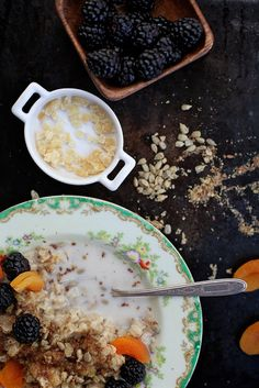 Blackberry Apricot Sunflower Oatmeal by joy the baker, via Flickr