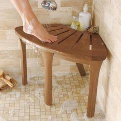 Fancy - Teak Corner Bath Stool